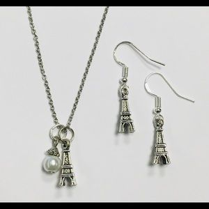 Eiffel Tower Paris Necklace and Earring Set